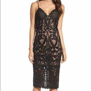 NWT Bardot Lace Midi Cocktail Dress